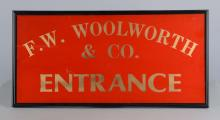 Entrance Sign To F.W. Woolworth & Co.