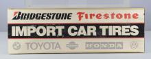 Import Car Tires Double-Sided Cardboard Sign