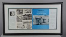 Lot Of 3: Corvette & Car Advertisements In Frames
