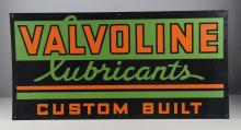Valvoline Lubricants Single Sided Tin Sign