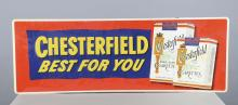 Chesterfield Cigarettes Embossed Tin Sign