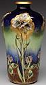 Amphora Ceramic Vase with Floral Decoration.