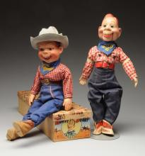 Lot Of 2: Howdy Doody Dolls.