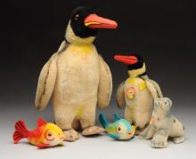Lot Of 5: Steiff Water Animals with IDs.