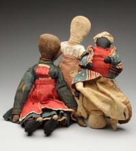 Lot Of 3: Cloth Dolls.