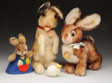 Lot Of 4: Steiff Rabbits with IDs.