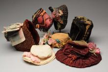 – Lot of 7 Antique Doll Hats.