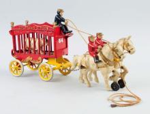 Kenton Overland Circus Wagon With Bear.