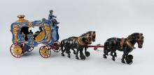Hubley 4-Horse Royal Circus Calliope Wagon.