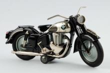 Japanese Tin Litho Friction BMW 500 Motorcycle Toy