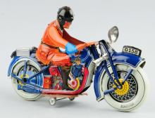 J.M.L. Tin Litho Wind-Up Motorcycle Toy.