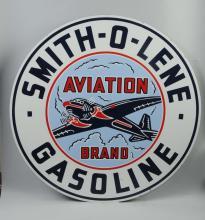 Smith-o-Lene Aviation Brand Gasoline Sign.