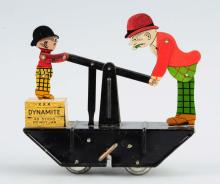 Marx Tin Litho Wind-Up Moon Mullins & Kayo Handcar