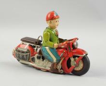 Japanese Tin Litho Friction General Motorcycle Toy