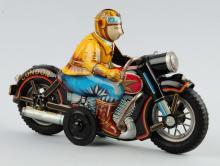 Japanese Tin Litho Friction Condor Motorcycle Toy.