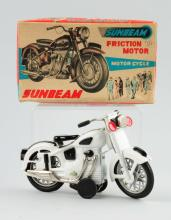 Japanese Tin Litho Friction Sunbeam Motorcycle Toy
