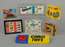 Lot Of 9: Corgi #335 Jaguar, Wheels & Catalogs.