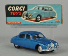 Corgi #208M Mechanical Jaguar 2.4 Litre Saloon.