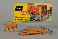 Corgi #607 Circus Elephant & Transport Cage.