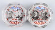 Lot Of 2: Roosevelt & Taft Glass Paper Weights.