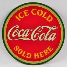 1933 Coca Cola TIn Embossed Sign.