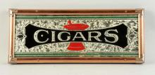 Cigars Reverse On Glass Sign.