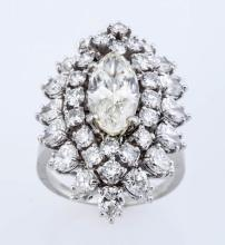 2.67 Marquise Diamond Ring & Pendant.