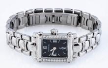 Phillip Charriol Diamond & Stainless Steel Watch.
