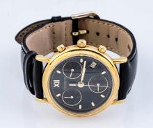 18K Gold Tissot Chronograph Watch.