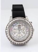 Breitling Bentley SS w/ Diamonds Chrono Watch.