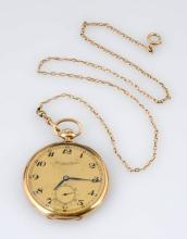 IWC Schaffhausen 14K Gold Pocket Watch.