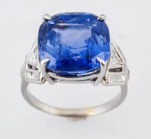 15.87 ct. No Heat Ceylon Sapphire Ring.