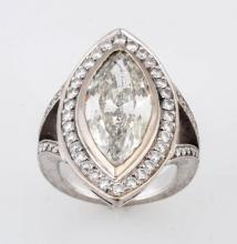 5.36 ct. Marquise Cut Diamond Ring.