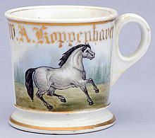 White Horse Shaving Mug.