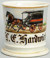 Horse-Drawn Enclosed Wagon Shaving Mug.