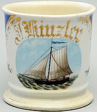 Single Masted Sailboat Shaving Mug.