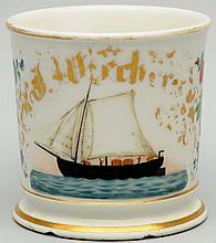 Sailboat Boat Shaving Mug.