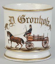 Horse Drawn Express Cart Shaving Mug.