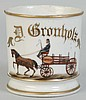 Horse Drawn Express Cart Shaving Mug.