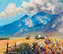 Augustus William Dunbier - Taos-Adobe