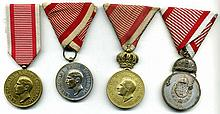 Serbia, Royal Household medals (4), all Alexander I, type 1,