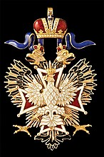 * Russia, Order of the White Eagle, sash badge, in