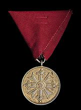 *Latvia, Order of Vesthardus, Gold Merit Medal, in silver-gilt, v