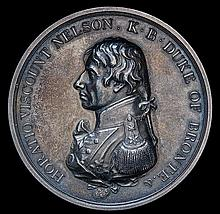 *Matthew Boulton's medal for the Battle of Trafalgar, 1805, speci
