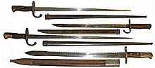 FOUR 19TH CENTURY BAYONETS