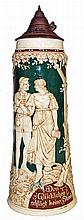 TALL COURTING COUPLE STEIN