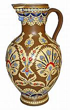 METTLACH MOSAIC POURING VESSEL