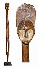 CARVED WOOD OFIKA STAFF FIGURE