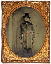 CIVIL WAR HALF-PLATE RUBY AMBROTYPE