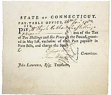REVOLUTIONARY WAR PAY DOCUMENT